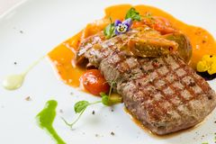 Beef steak entrecote Stock Photo