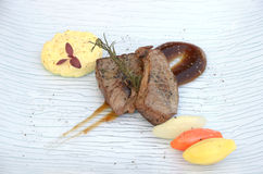 Gourmet grilled beef steak Stock Images