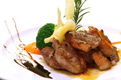 Gourmet grilled Duck steak stock images
