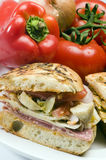 Gourmet ham italian sandwich Royalty Free Stock Photography