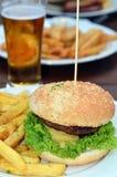 Gourmet hamburger Stock Images