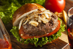 Gourmet Hamburger with Lettuce and Tomato Royalty Free Stock Images