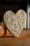 gourmet heart shaped cheese Royalty Free Stock Images