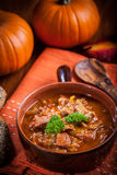 Gourmet hearty goulash soup Royalty Free Stock Photography