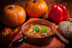 Gourmet hearty goulash soup Stock Photo