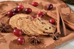 Gourmet holiday crackers royalty free stock photos