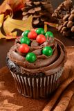 Gourmet holiday cupcake Royalty Free Stock Photos