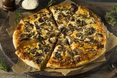 Gourmet Homemade Mushroom Pizza Royalty Free Stock Photos