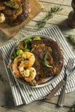 Gourmet Homemade Steak and Shrimp. Surf n Turf stock images