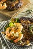 Gourmet Homemade Steak and Shrimp. Surf n Turf royalty free stock images