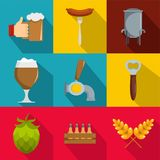 Gourmet icons set, flat style. Gourmet icons set. flat set of 9 gourmet vector icons for web isolated on white background Stock Photo