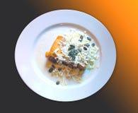 Gourmet international cuisine, pumpkin flan Stock Photography