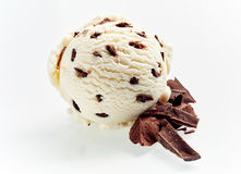 Gourmet Italian stacciatella chocolate ice cream Royalty Free Stock Image