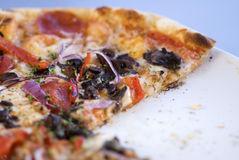 gourmet- italiensk pizza Arkivfoton