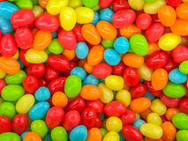 Gourmet jelly beans. Close up of assorted multicolored gourmet jelly beans Stock Images