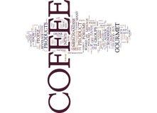 Gourmet- kaffe och fritt begrepp för moln för kafferådgivningord stock illustrationer