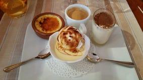 Gourmet- kaffeefterrätt royaltyfri bild