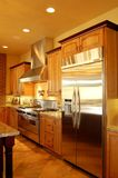 Gourmet Kitchen. Beautiful and glowing gourmet kitchen Stock Images