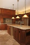 Gourmet kitchen in luxururious New construction ho Stock Photo