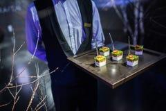 Gourmet- läcker disk och sköta om för mat (fusionkokkonst) Royaltyfria Foton