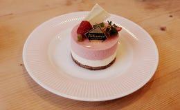 Gourmet- läckerhetkortkortostkaka Royaltyfri Foto