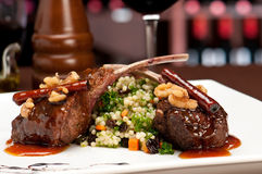 Gourmet Lamb Chops Royalty Free Stock Photography