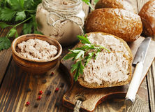 Gourmet liver pate Stock Photography