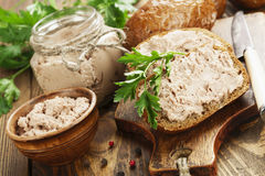 Gourmet liver pate Royalty Free Stock Images