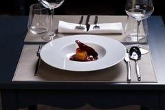 gourmet- mål royaltyfria bilder