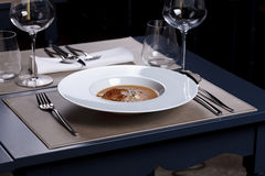 gourmet- mål arkivbilder