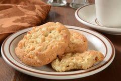 Gourmet macadamia nut cookies Royalty Free Stock Image