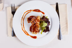 Gourmet Main Dish Served on the Table Royalty Free Stock Photo