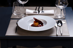 Gourmet meal Royalty Free Stock Images