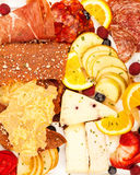 Gourmet Meat and Cheese Platter Stock Photo
