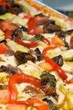 Gourmet Mediterranean pizza Royalty Free Stock Photos