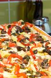 Gourmet Mediterranean pizza Stock Images