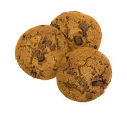Gourmet milk chocolate chip cookies Royalty Free Stock Images