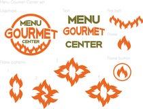 Gourmet- mitt för meny Arkivfoton