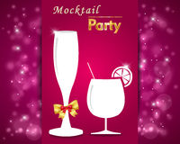 Gourmet mocktails and drinks party , goblet graphic party invitation card Stock Photography