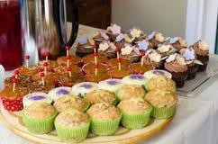 gourmet- muffiner Arkivbilder