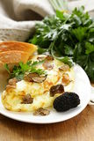 Gourmet omelette with black truffle Royalty Free Stock Photos