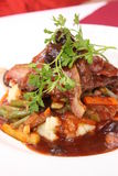 Gourmet Ostrich fillet. Gourmet serving of ostrich fillet Royalty Free Stock Images