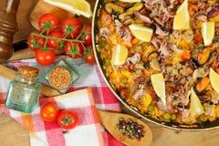 Gourmet paella Stock Photos
