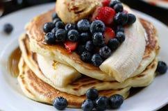 Gourmet- pannkakor Royaltyfria Bilder