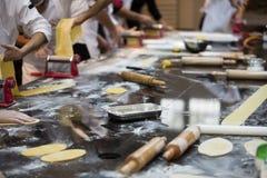 Gourmet pasta making theme royalty free stock images