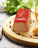 Gourmet pate de foie gras with a baguette. For an appetizer Royalty Free Stock Images