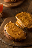 Gourmet Peanut Butter and Honey Toast Stock Photos