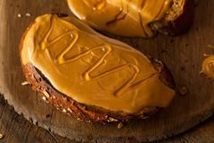 Gourmet Peanut Butter and Honey Toast Royalty Free Stock Photography
