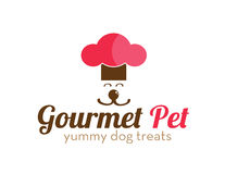 Gourmet Pet Treats Logo Stock Photo