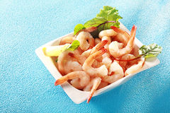 Gourmet pink prawn or shrimp tails Royalty Free Stock Image